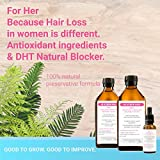 100% Medicinal Plants Based Hair Regrowth Treatment for Her - Step 1 Detox, Step 2 Hair And Scalp Stimulating, 3 Deep Scalp & Follicle Treatment | HairWise only Hand Made Products.