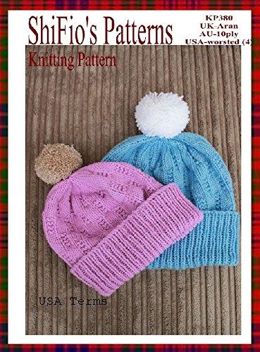 accad1afcb2 Knitting Pattern - KP382 - ladies   mens beanie ski hat pattern - USA  Terminology by