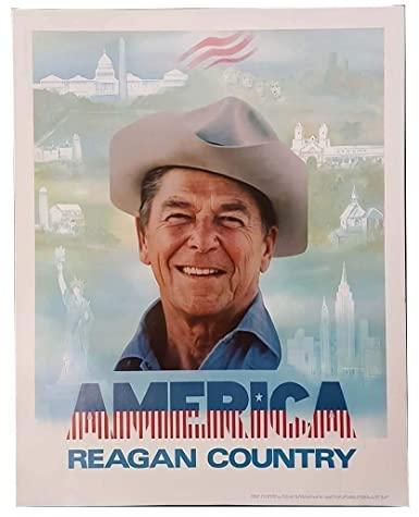 Amazon.com  President Ronald Reagan America is Reagan Country Classic  Campaign Poster  Ronald Reagan  Entertainment Collectibles 9bbd4123707a