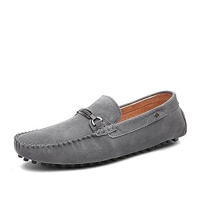 Herrenschuhe Leder Frühling Herbst Slip on & Loafers Komfort Fahr Schuhe für Casual Office & Karriere (Farbe : B, Größe : 44) Huan