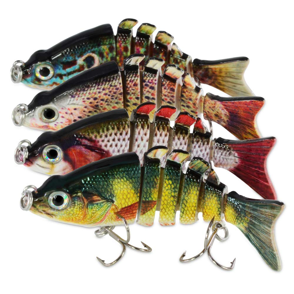 ROSE KULI Fishing Lures Multi Jointed Swimbaits Lure Fishing Bait Lifelike Tackle Kits by ROSE KULI