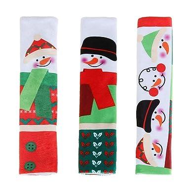Amazon.com: Tharv❤3pcs Snowman Navidad Xmas Refrigerador ...