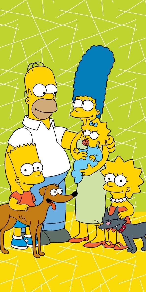 The Simpsons Serviette de bain