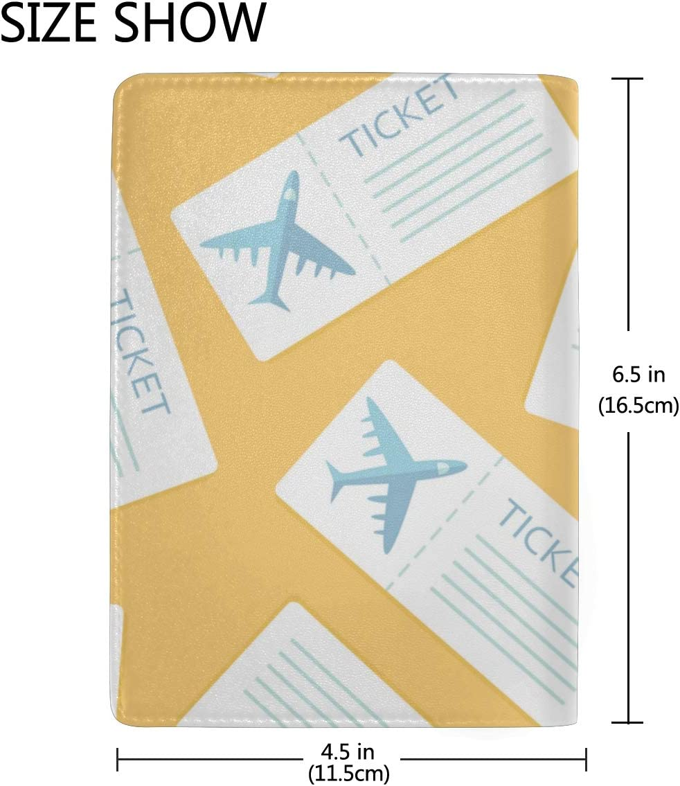 Passport Case Holder Different Airplanes In The Sky Stylish Pu Leather Travel Accessories Hard Passport Case For Women Men
