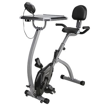 Bicicleta Estática Plegable Magnética con Respaldo, Bicicleta Fitness Plegable para Entrenamiento Cardiovascular, Bicicleta Ajustable