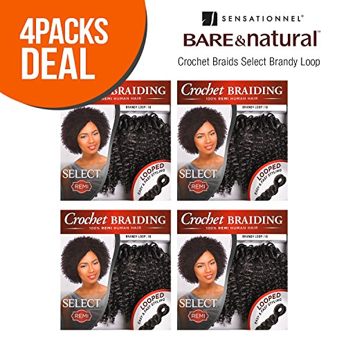 MULTI-PACK DEALS! Sensationnel Remy Human Hair Crochet Braids Select Brandy Loop 2Pcs (4-PACK, 530)