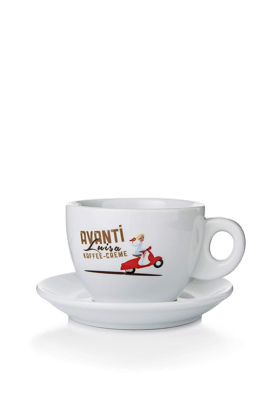 Avanti Avanti Avanti Milchkaffeetassen Set   Große Tassen   Dickwandig (4) B07KX3T641 Kaffeetassen e08017