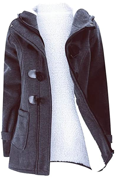 23db3e191cc79 Image Unavailable. Image not available for. Color  Cromoncent Womens Warm  Thicken Fleece Lined Hooded ...