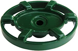 LASCO 01-5151 Oval Shaped Replacement Handle for Outside Hose and Garden Valves with 12 Point Round Broach and Arrowhead Brand, Green