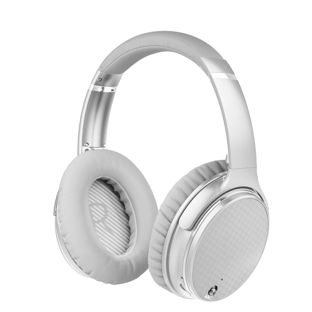Bluetooth Headphones Over Ear, Hi-Fi Stereo Wireless Headphones with Mic and Volume Control, Foldable Headset Support Wired Mode and SD/TF Card for Travel Work Cell Phones PC TV (White)