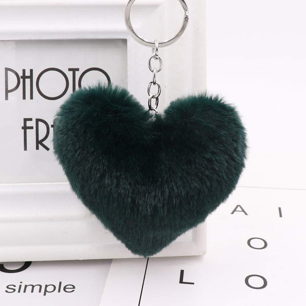 Amazon.com: Llavero con forma de corazón, llavero y colgante ...