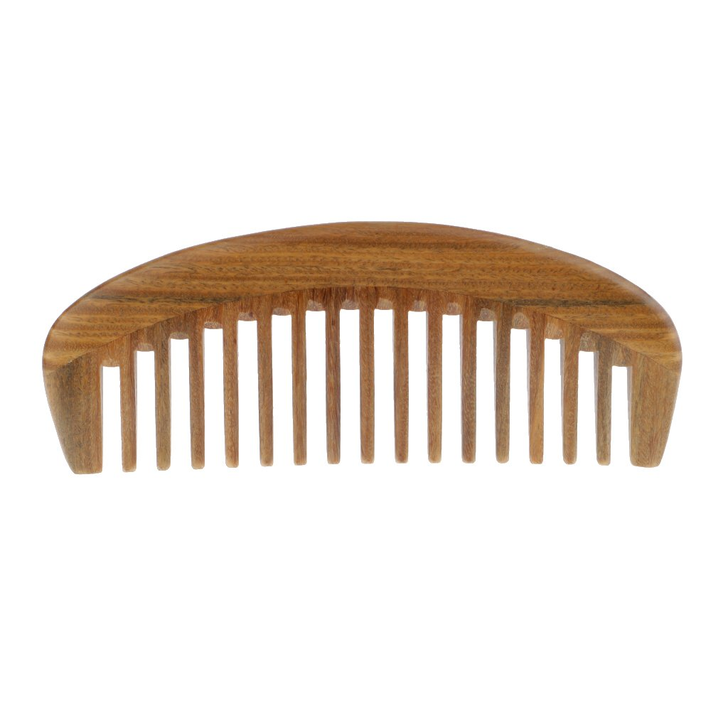 Baoblaze Wood Comb,Wooden Hair Comb,100% Natural Sandalwood Comb Pocket - Anti Static (Wide Tooth)