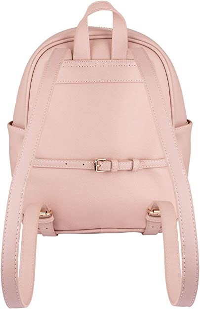 beige grey of Ladies Backpack SIX 1 pc 726-166 two coloured Back Pack