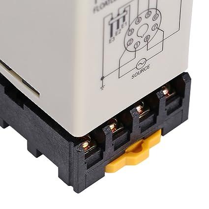 Akozon Interruptor de Nivel Controlador de Nivel de Agua C61F-GP AC220V 50 / 60HZ sin Flotador Líquido con Base: Amazon.es: Industria, empresas y ciencia