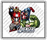 1/4 Sheet ~ Avengers 4 Frame Birthday ~ Edible Image Cake/Cupcake Topper!!!