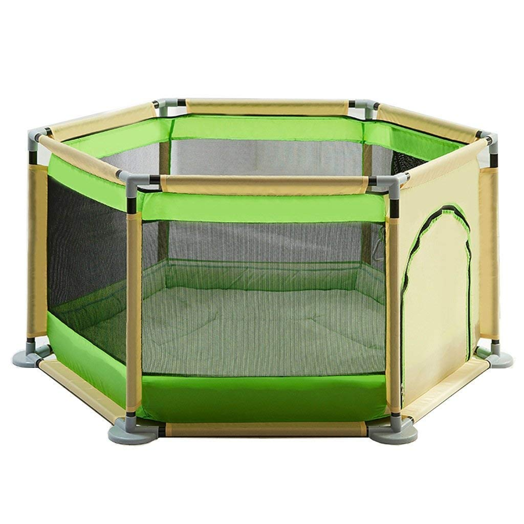 A MBD Baby Playpen with Pad Cushion, Indoor Outdoor Kids Toddler Kids Playpens Heavy Duty Fence (color   A)