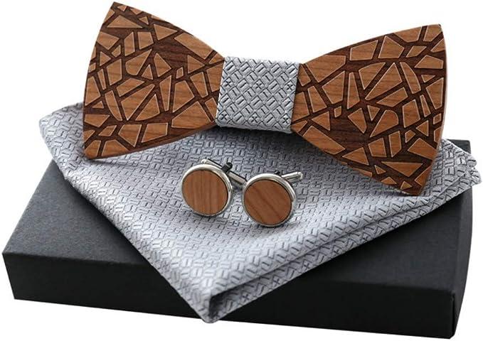 LR xiaorunfa Madera (corbata de cuello) lazo manguitos de madera ...