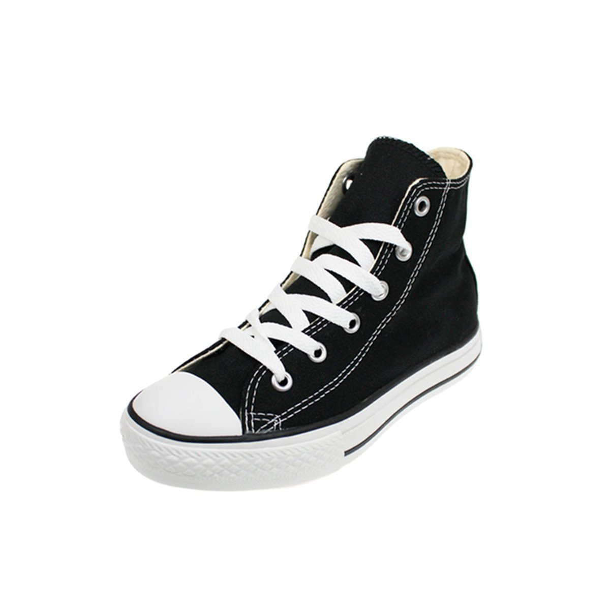 Converse All Star Chuck Taylor Kids Classic Black Canvas High Top Trainers - UK 11