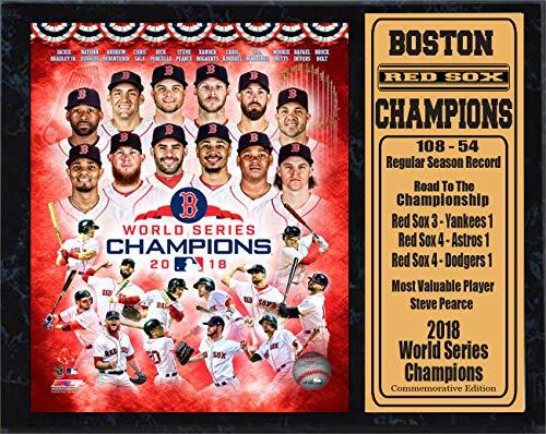 Boston Red Sox Plaque - Encore Boston Red Sox 2018 Champions 12x15 Stat Plaque