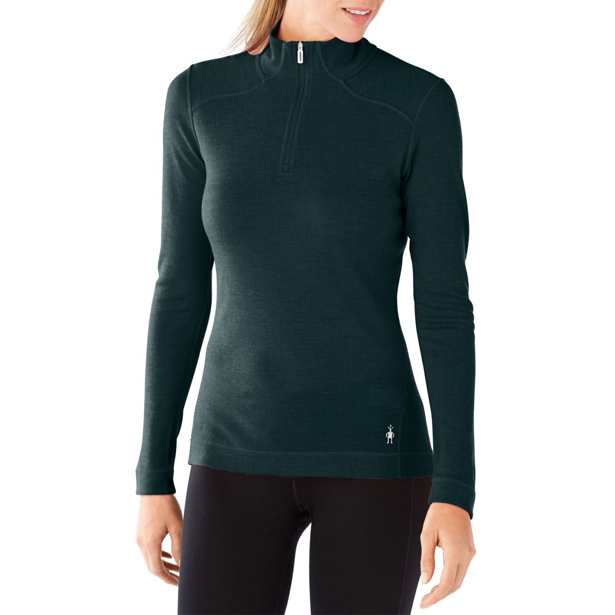 Lochness Heather Small SmartwoolWomen's NTS Mid 250 Zip Top