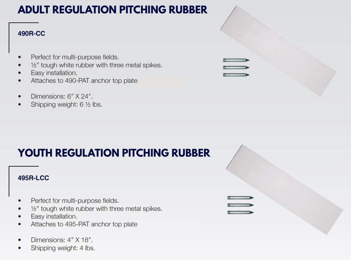 ADAMS USA Baseball//Softball Regulation Pitching Rubber