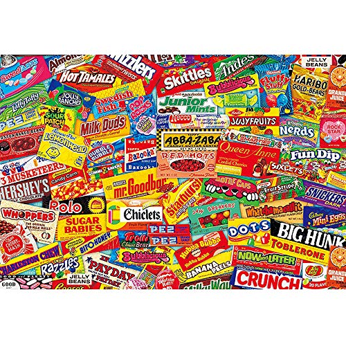 Jigsaw Puzzles for Adults 1000 Piece Puzzle for Adults 1000 Piece - Crazy Candy - 1000 Piece Puzzle Large Wooden Puzzles Kids Educational Game Toys Gift for Home Wall Decoration