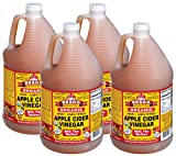 Bragg Organic Raw Apple Cider Vinegar oOEuY, 4Pack (1 Gallon)