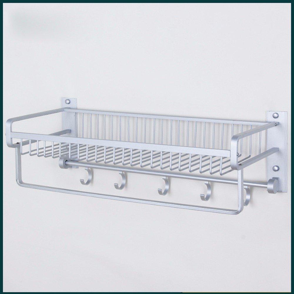 MDRW-Towel Rack Space Aluminum Bathroom Shelf High-Grade Double Basket Rack