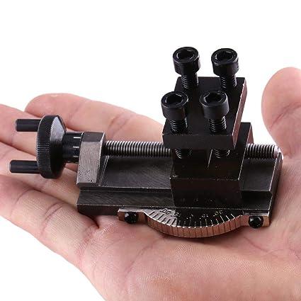 Portautensile per tornio 10154 per tornio mini SIEG C0 Mini e supporto portatile per tornio SIEG C0 Mini portautensili per tornio Asixx Accessori S//N girevole da 30 gradi