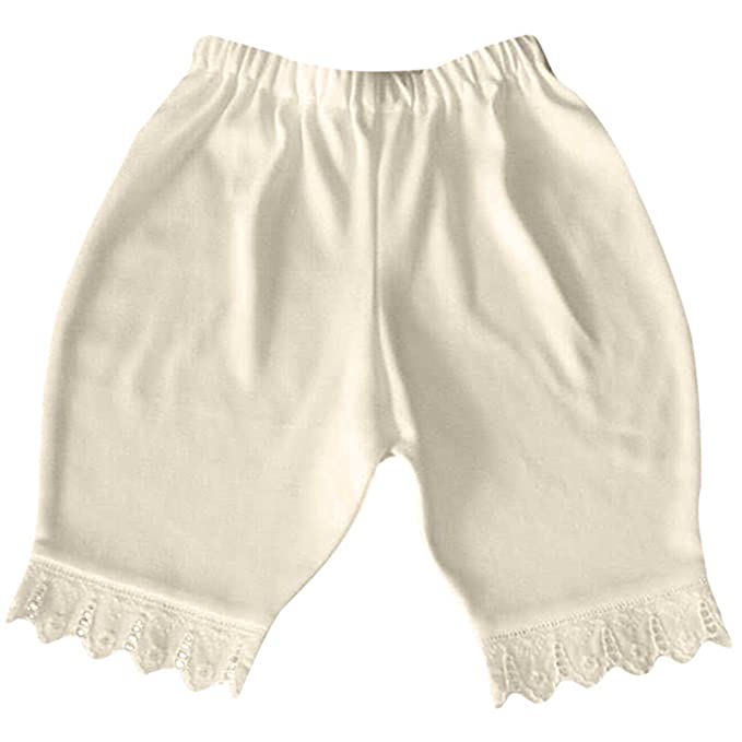 Victorian Kids Costumes & Shoes- Girls, Boys, Baby, Toddler Victorian Organics Baby Bloomers Organic Cotton and Lace Diaper Cover Short Pant $24.00 AT vintagedancer.com