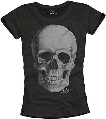 t-shirt tête de mort femme 2
