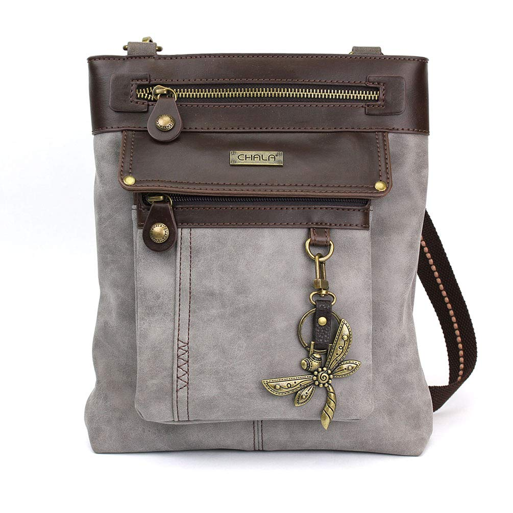 Chala GEMINI Crossbody Gift Messenger Bag - Grey by CHALA