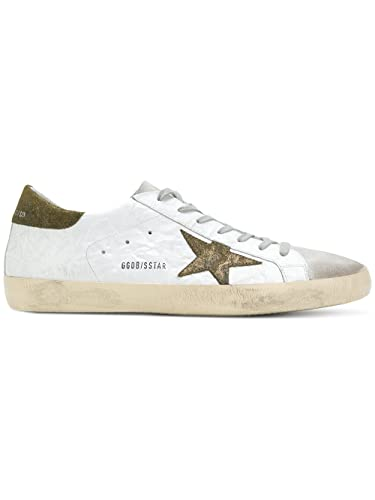 GOLDEN GOOSE HOMME G32MS590E96 BLANC CUIR BASKETS m0KADt