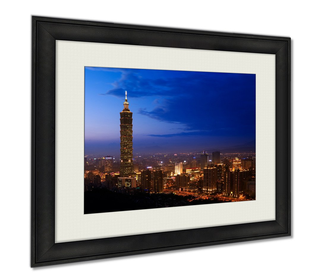 Ashley Framed Prints Golden Taipei 101, Wall Art Home Decoration, Color, 26x30 (frame size), AG5895532
