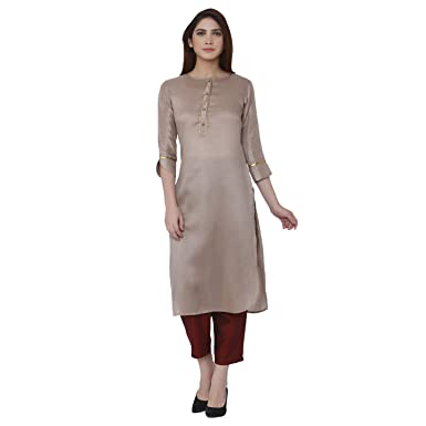 5c2b97cc6c Shiloh Women's Polyester Solid Kurti with Palazzo Pant Set/Stitched Salwar  Suits: Amazon.in: Clothing & Accessories