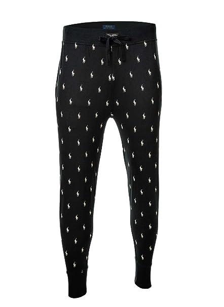 Polo Ralph Lauren Men Joggers Pant, Pantalones de chándal, Largos, Loungewear - Negro
