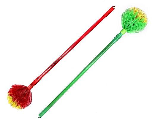 Ivaan� Round Jaala Cobweb Cleaning Broom (1.5 Meter), Color May Vary