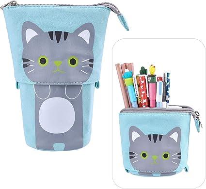 iSuperb Bolsa Estuche para Lápices Azul Estuche Escolar Cute Pencil Case para Mujer Estudiante: Amazon.es: Oficina y papelería