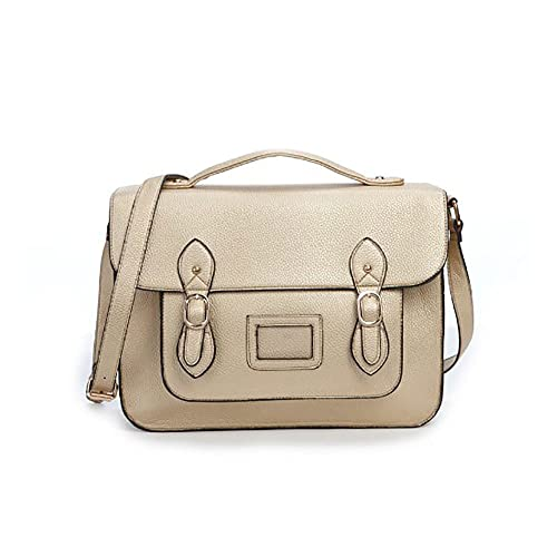 Vintage Large YASMIN BAGS 13.5'' Unisex Faux Leather Satchel/Cross Body Bag - with FREE USB stick keychain