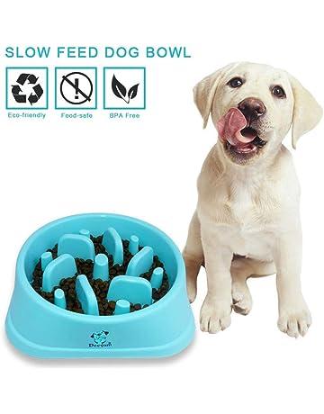 Decyam Comedero Perro Gato, Antideslizante Alimentacion Plato alimentador Tazon Comedero para Mascotas Bebedero Cuenco Bol