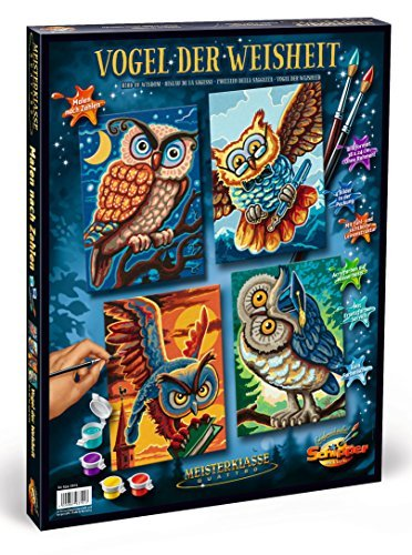 Schipper Birds of Wisdom Paint-by-Number Kit by Noris Spiele Gmbh