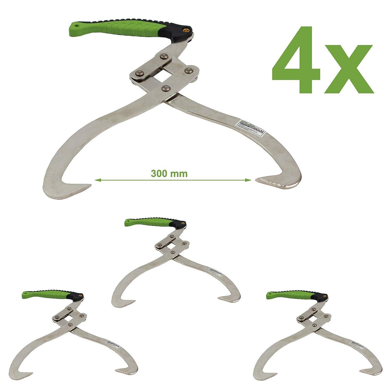 2 St/ück TRUTZHOLM/® Handpackzange XL 300mm Packzange Handhebehaken Sappie Holzgreifer Heber
