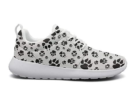 1c0952517890b Amazon.com: Wuixkas Bulldog Footprints Puppy Womens Lightweight Mesh ...