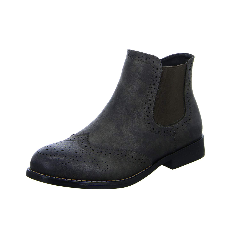 Rieker Damen 98791 (Basalt Chelsea Stiefel Grau (Basalt 98791 45) 65c97a