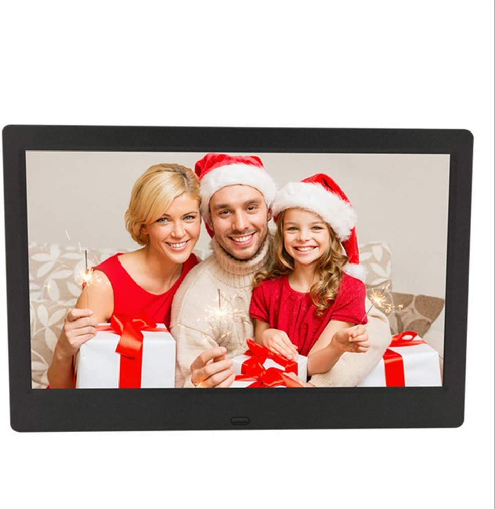 Remote Control,White Motion Sensor,Photo//Music//Video Player Calendar Alarm New 10.1 Inch Digital Photo Frame Support USB and SD Card