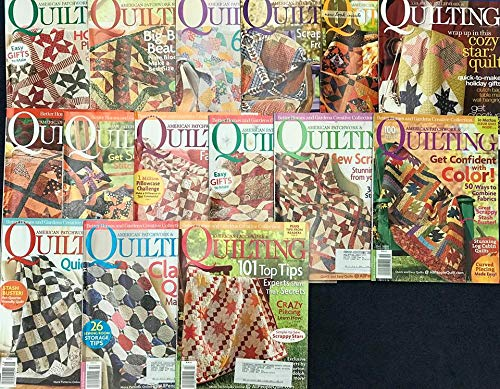 Set of Fifteen Various Issues of Better Homes and Gardens Creative Collection American Patchwork & Quilting Magazines