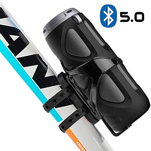 Avantree Portable Bluetooth 5.0 Bike Speaker with Bicycle Mount SD Card Slot, 10W Powerful Enhanced Bass Wireless NFC Pairing, Splash Proof, Shockproof Dustproof for Riding, Outdoor – WP400
