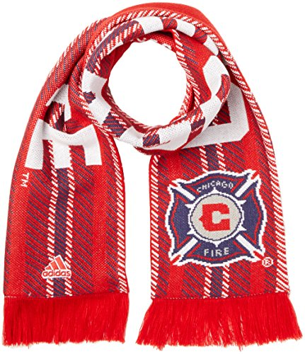 fan products of MLS Chicago Fire Jacquard Scarf with Block Name, One Size, Red