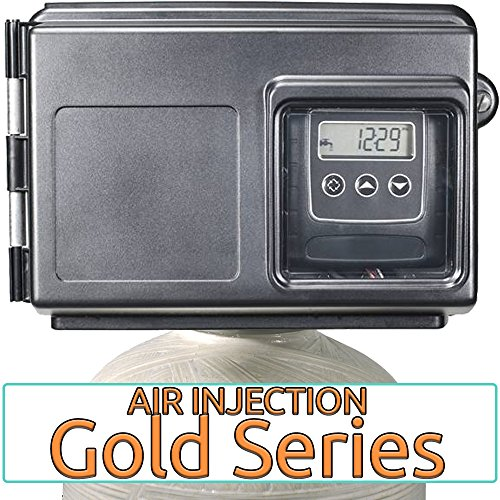 Air Injection Gold 10 with Fleck 2510SXT and 1'' Bypass - AIG10-25SXT - For Iron Hydrogen Sulfide Rotten Egg Odor Manganese by AFWFilters
