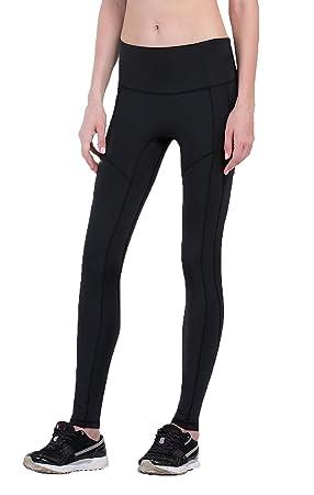 021fb495bbe9c Fringoo® Women s Yoga Leggings Workout Running Compression Tights Pilates Fitness  Pants (Black Plain